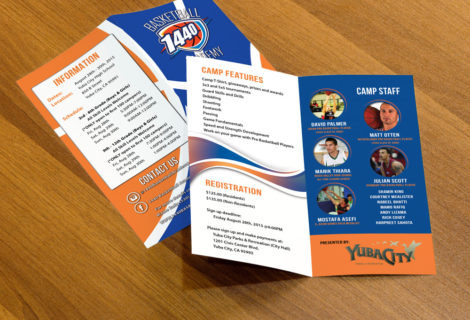 1440 Basketball – Bifold Brochure